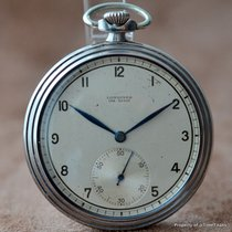 Longines FAB SUISSE STAYBRITE STEEL 1940's TRIPLE STEPPED...