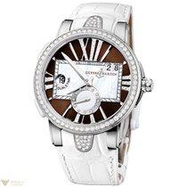Ulysse Nardin Executive Dual Time Brown Dial Diamonds Bezel...
