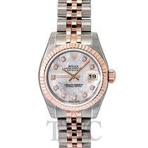 Rolex Lady-Datejust 26 White Steel/18k rose gold MOP G Jubilee...