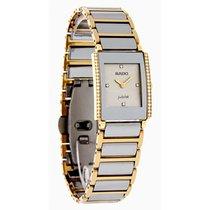 雷达 (Rado) Integral Ladies Diamond Platinum Ceramic Watch...