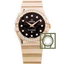 Omega Constellation Quartz 27mm Pink Gold Diamonds NEW