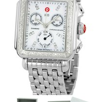 Michele Deco Day Diamond Mother of Pearl MOP Chronograph Watch
