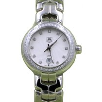 TAG Heuer Link Ladies WAT1414.BA0954 29mm Silver Guilloche...