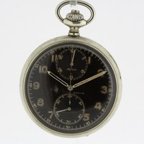 Alpina Chronograph Vintage Pocket Watch Cal. 19/9 Minerva WWII...
