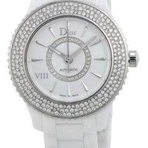 Dior VIII Automatic Diamond White Ceramic Ladies Watch