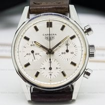 Heuer 2447S Vintage Carrera Silver Dial Circa 1960s (22788)