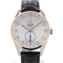 TAG Heuer Carrera Heritage Automatic 39 Black Leather Strap...