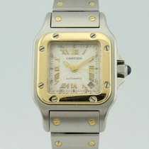 Cartier Santos Automatic 18K Gold and Steel Lady 2423