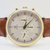 Omega De Ville 18k Gold Steel Chronograph Manual Winding