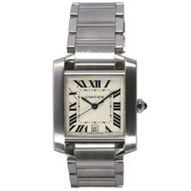 Cartier Tank Francaise Stainless Steel Guilloche Dial WW1002Q3