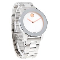 Movado Bold Ladies Silver Dial Mirror Stainless Steel Swiss...