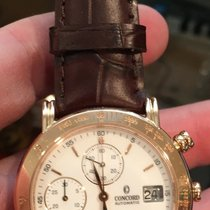 Concord 18k Rose Gold Automatic Chronograph Swiss Made Wrist...