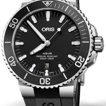 Oris Aquis Date Stainless Steel Black Dial Men's Watch...