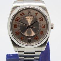 Rolex Airking 114210 Orange Arabic Dial Papiere