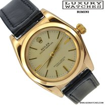 Rolex Ovetto BubbleBack 3131 Silver Dial yellow Gold 1945's