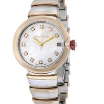 Bulgari Lucea Mother of Pearl Diamond Dial Rose Gold & Steel