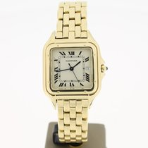 Cartier Panthere FULL YellowGold18K Creme Dial (BOX96) 28mm