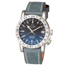 Glycine Airman 17 Purist Blue Dial Automatic Men's Leather...