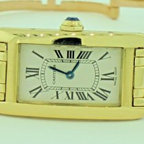 Cartier Tank Americaine American 18K Solid Gold