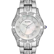 Bulova Crystal Sport Watch - White Mother of Pearl - Stainless...