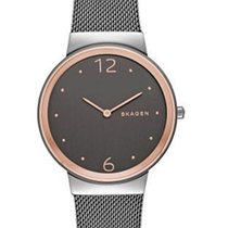 Skagen Womens Freja Watch - Rose Gold-Tone Case - Mesh Band -...