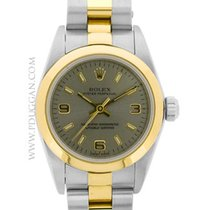 Rolex stainless steel and 18k yellow gold ladies Oyster Perpetual