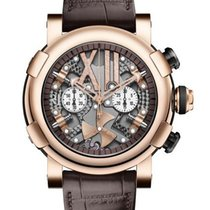 Romain Jerome Steampunk Chronograph Full Red in Rose Gold...