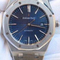 Audemars Piguet Royal Oak 41mm Blue Dial Stainless Steel Watch...