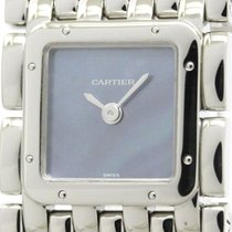 Cartier Polished Cartier Ruban Blue Mop Dial Steel Quartz...