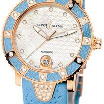 Ulysse Nardin Lady Marine Diver 18K Rose Gold Diamonds