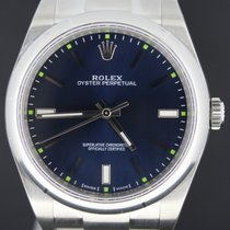 Rolex Oyster Perpetual 39MM Steel, Blue Dial Full Set