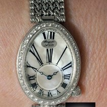 Breguet Reine De Naples 18k White Gold & Diamond Watch...