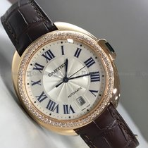 Cartier - Cle De WGC0004 Customized Diamond Bezel White Dial RG