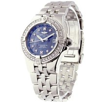 Breitling Lady's Starliner with Blue MOP Diamond Dial