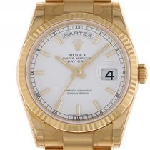 Rolex Day Date Gelbgold Automatik Oyster Armband 36mm Ref.118238