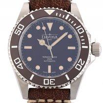 Davosa Ternos Vintage Diver Stahl Automatik Keramik Armband...