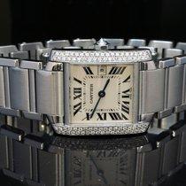 Cartier Mid Size Tank Francaise, Diamond set Case, Quartz
