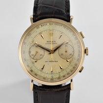 """Ρολεξ (Rolex) Vintage Chronograph Yellow Gold """"Coin Edge"""""""