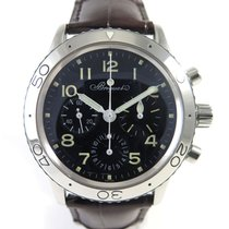 Breguet Type XX Chronographe 3800 Steel case on a leather band...