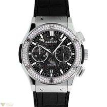 Hublot Classic Fusion Aero Cronograph Titanium Diamonds Men`s...