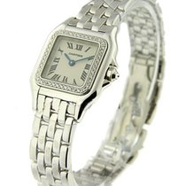 Cartier WF3091F3 Ladies Panther in White Gold with Diamond...