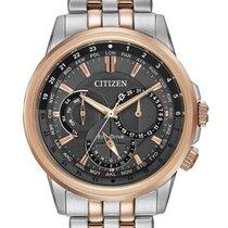 Citizen Eco-Drive Mens Calendrier - Grey Dial - Rose Gold-tone...