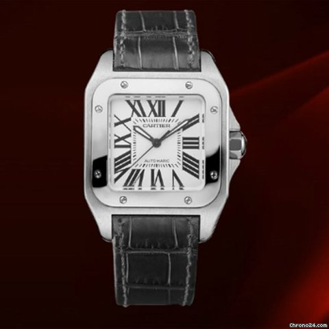 Cartier Santos 100 Medium Size Ref.w20106x8