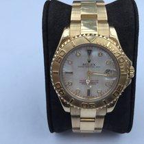 Rolex Yacht-Master Gelbgold Perlmutt m. Diamanten und Saphiren