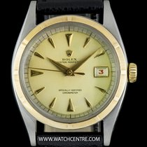 Rolex S/G Semi Bubble Back Vintage Oyster Perpetual Watch 6105