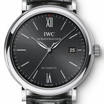 IWC Schaffhausen IW356502 Portofino Automatic Black Index...