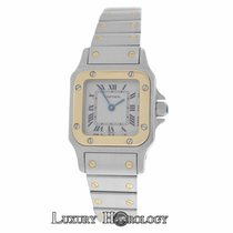 Cartier Mint Women's   Santos Galbee 1567 Quartz Steel...