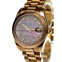 Rolex Datejust Medium Size Mother Of Pearl Diamond Set Dial...