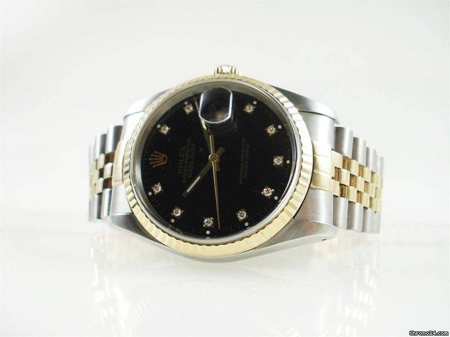 Rolex Datejust 16233 stahl/gold B&P Diamanten TOP