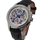 Perrelet Chronograph Skeleton Dual Time Steel Diamond Bezel